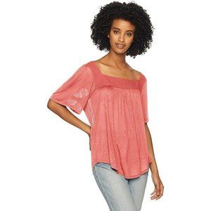 Size Small Lucky Brand Shadow Stripe Peasant Top